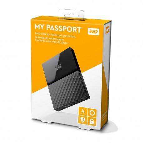 WD 4TB My Passport USB 3.0 Disco Duro Externo Portable Western Digital