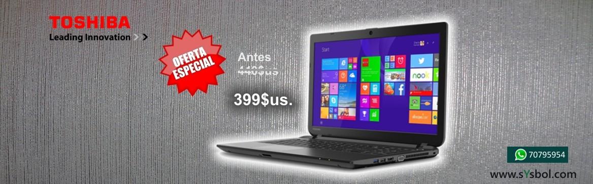 Laptop Toshiba Satellite C55 en oferta, solo por navidad